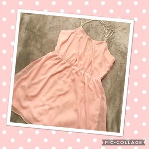 💜2 for $15💜Salmon pink dress with beaded straps